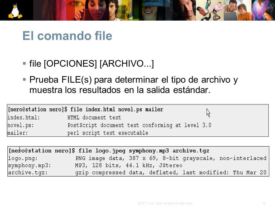 El comando file file [OPCIONES] [ARCHIVO...]